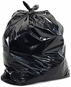 Garbage Bag Black - 39 Gallon - LG Thick & Extra Heavy Duty for Home, Commercial