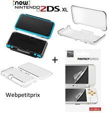 Coque en polycarbonate Transparente + 2 Protections Nintendo New 2DS XL NEUF