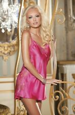 Shirley of Hollywood Pink Satin & Lace Chemise - Size Medium UK 10-12 RRP £39.99