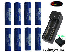 C+8X450mAh ICR 14500 3.7V AA Rechargeable Li-ion Battery For UltraFire LED Torch