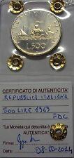 ITALIA REPUBBLICA 1969 500 LIRE CARAVELLE DA DIVISIONALE ZECCA FDC SIGILLATA