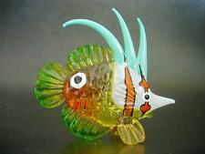 Glass FISH Painted Glass Figure Glass Ornament Gift Multi Coloured Glass Animal