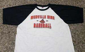 NWOT Mudville Nine Baseball est 1888 Quarter Sleeve MiLB T-Shirt Top Men Sz XL