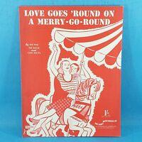 Disney - Love Goes Round On A Merry Go Round Original Vintage Sheet Music 1950