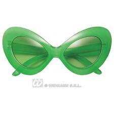 Green Alien Sunglasses Glow In The Dark Novelty Glasses Monster Fancy Dress