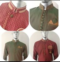 Ethnic Men's Indian Kurta Sherwani 2 pcs Indo-Western Suit Weddings-Groomsmen