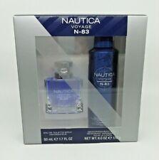 Nautica Voyage N-83 Gift Set : Spray 1.7oz & Deodorizing Body Spray NEW