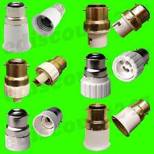 B22 to E27/E14/GU10/MR16/B15/G9 Light Bulb Lamp Holder LED Adaptor UK SELLER.