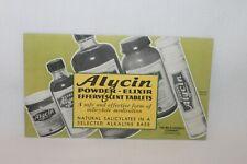 Vintage Ink Blotter ALYCIN Advertisement WH S. Merrell Co. UNUSED