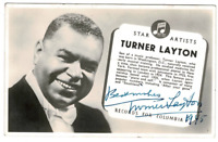 Turner Layton signed autographed photo! RARE! AMCo Authenticated! 14256