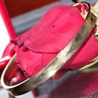 "14k yellow gold Italian made 8.0"" hinged bangle bracelet vintage 8.6gr N2599"