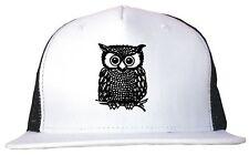 Owl Logo Trucker Hat Cap Adjustable