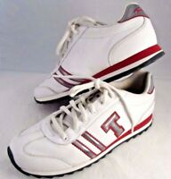 "TOMMY HILFIGER Tennis Athletic Sneakers Shoes Retro White Leather ""T"" Size 7.5M"