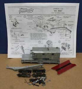 Vintage 1950s Athearn HO 200 Ton DIECAST Big Hook Wreck Crane Kit 1952