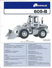 Equipment Brochure - Fiat-Allis - 605-B - Wheel Loader - c1978 (E4017)