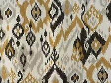 137 cm Wide £ 10 per Metro-Gratis P/&P Vilber Ikat Tessuto Grigio Chiaro