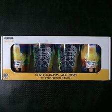 NEW Dia De Los Muertos, Skulls, Or Halloween Corona Extra 16oz Pub/Beer Glasses