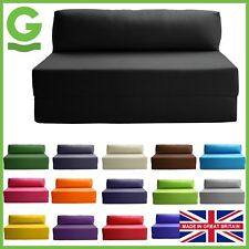 JAZZ Block Filled Fold up Sofa Bed Z Guest Foam Futon Mattress In/Outdoor Gilda