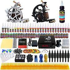 Professional Tattoo Artist Set Kit Tattoo Machine Guns 54 Inks Power Supplies