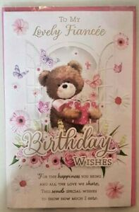 FIANCEE BIRTHDAY CARD FOR HER LUXURIOUS 8 PAGES WITH STUNNING WORDS XLARGE