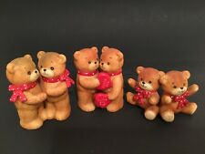 Lucy & Me/Lucy Rigg Bears With Red Polka Dot Bows; Free Priority Shipping!