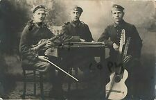 WW1 German soldier group one plays Violin the other a double neck Guitar