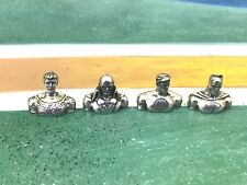 Monopoly Game Replacement BATMAN with 3 other DC SUPERHEROS Pewter Pieces NEW.