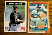 Frank Thomas Rookie Topps #414 and 1992 Front Row #3 - White Sox
