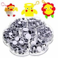700pcs Sew-on Wiggly Wobbly Googly Eyes Scrapbooking Crafts 4-12mm