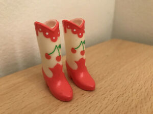 Cherry boots shoes for Blythe Pullip Licc Azone Momoko - UK seller - Super rare