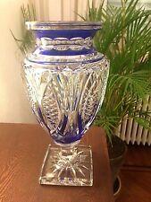 VAL SAINT-LAMBERT - Vase Jupiter - signé -  doublé bleu cobalt