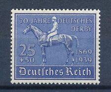Echte Briefmarken aus dem deutschen Reich mit Postfrisch und Pferdesport