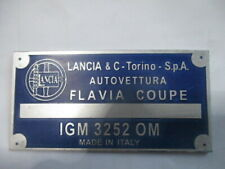 Lancia Nameplate Flavia Coupe Igm 3252 Om Zagato