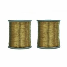Metallic Zari Thread for Embroidery, Sewing and Jewelry Making, Light Pink Color