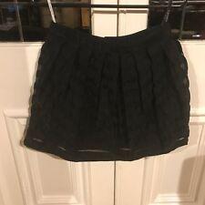 Topshop black organza skirt - black- Size EUR 38/US 6/UK 10 -EUC