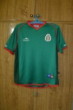 Mexico Team Atletica Football Shirt Home 2001/2002 Green Jersey Women  Size L/14