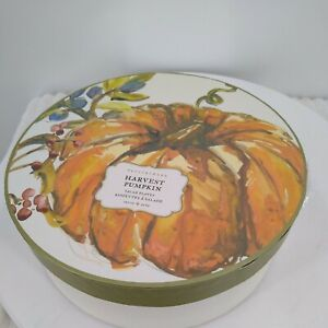 "Pottery Barn Appetizer  HARVEST PUMPKIN Salad Plates SET/4 (6"")"