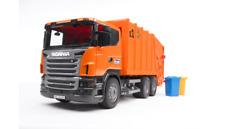 GARBAGE TRUCK SCANIA R-R-series Orange Bruder Toy Car Model 1/16 1:16