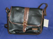 Vintage Leather Shoulder Bag Purse by Carryland Circa 1990s 11x9x4 inch New wTag