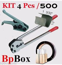 """Tensioner and Cutter 1/2""""  to 5/8""""  + Strapping Poly Crimper +500 seal KIT4 pcs"""