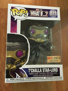 Funko Marvel T'Challa as Star-Lord Metallic #871 BoxLunch Exclusive + Protector