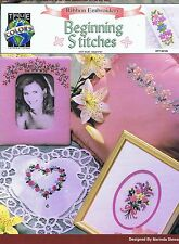 Beginning Stitches In Ribbon Embroidery Pattern Instructions Beginner