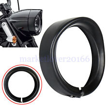 7inch Black Headlight Bezel Trim Ring Protect Guard Cover Cap for Harley