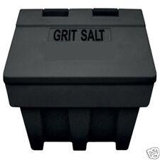 200 Litre JSP Black Plastic Large Grit Bin Winter Rock Salt Storage 7cu ft 250kg