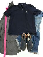 BROOKS BROTHERS Mens Polo Shirt BLUE COTTON Short Sleeve M GOLF SHIRT