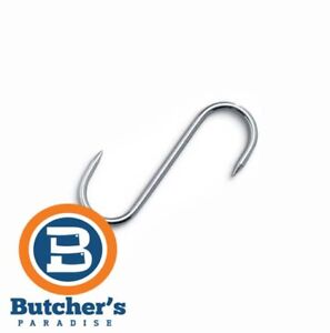 """Butcher's Stainless Steel S-Hook 6"""" Food Meat Kitchen Hanging Metal 10 Pieces"""