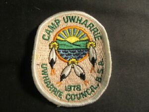 Camp Uwharrie, 1978, Uwharrie Council Pocket Patch  c47