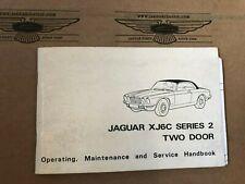 Operating, Maintenance and Service Handbook, Betriebsanleitung Jaguar XJ6 Coupé