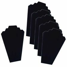 6 Necklace Display Stand Black Velvet Jewelry Display Cards Organizer Neck Lot