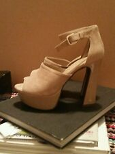 Express Faux Suede Platform Shoes Size 8.5